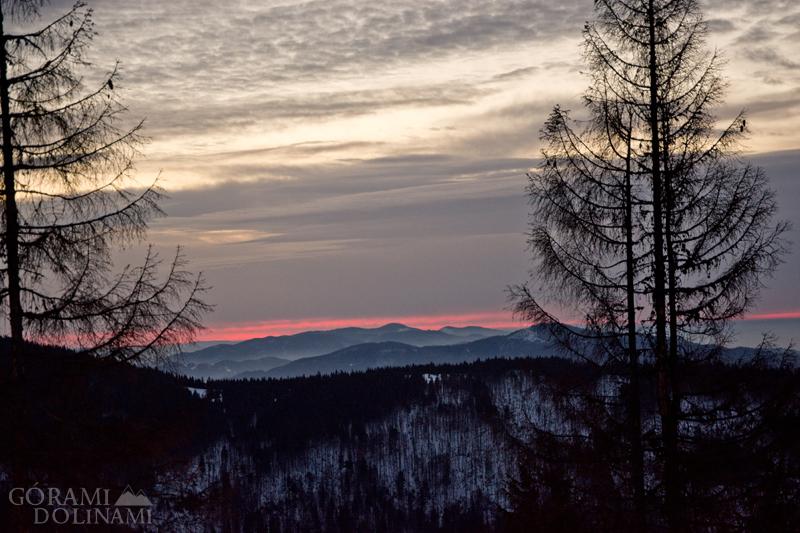 Turbacz wschód słońca