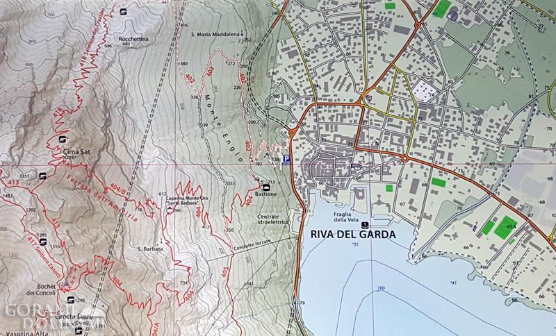 Ferrata dell'Amicizia - mapa