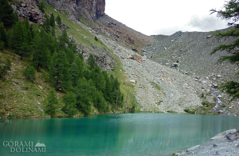 Lago Blu - w drodze do schroniska Ayas