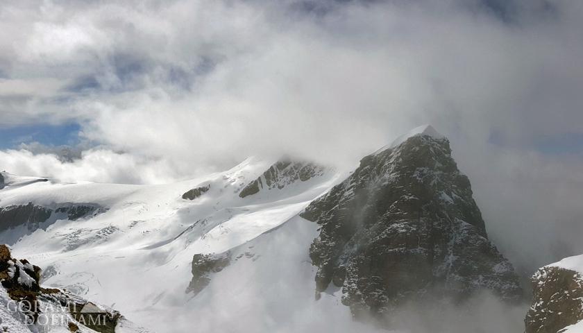 Roccia Nera, widok z Polluxa